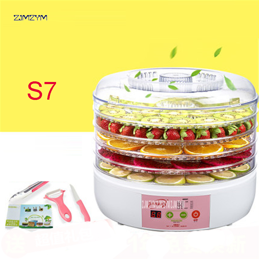 S7 Cylindrical Intelligent Timing Food Drying Machine Electric Fruit Dryer Tool for Home Fruit Vegetable Food Drying Dehydrator itas1113 the timing of the telescopic shoes dryer deodorization sterilization drying machine for children s shoes