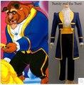 La bella y la Bestia Príncipe Adam Cosplay Disfraces Para Adultos Ropa Cosplay del partido de Adam Hombres uniformes Ropa de Fiesta de halloween Trajes