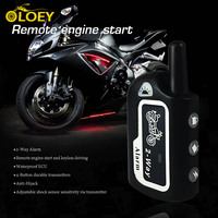 OLOEY Two Way Motorcycle Alarm Anti theft Security System Scooter Moto 2 Way Alarm Remote Control Engine Start Theft Protection
