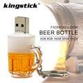 Kingstick Stick USB modelo usb flash drive de cerveja de vidro da caneca de cerveja pendrive 4 gb 8 gb 16 gb 32 gb 64 gb memory stick pen drive U disco