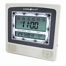 Мусульманские настенные часы Azan молитвенные часы Мусульманский Коран часы с большим экраном 4012 с Dc Jack