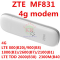 unlocked ZTE MF831 Mobile 3g 4g LTE USB STICK 4G 3G usb modem 4g dongle tdd fdd band pk mf821 mf820 mf823 e3276 e3372 e3272