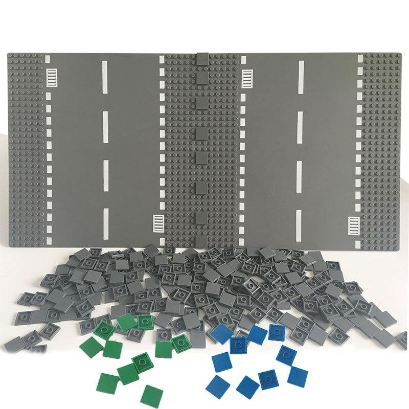 100Pcs Flat Tile 2x2 DIY Enlighten Plastic Building Block Bricks Toys For Kids Compatible LegoINGlys Assembles Particles