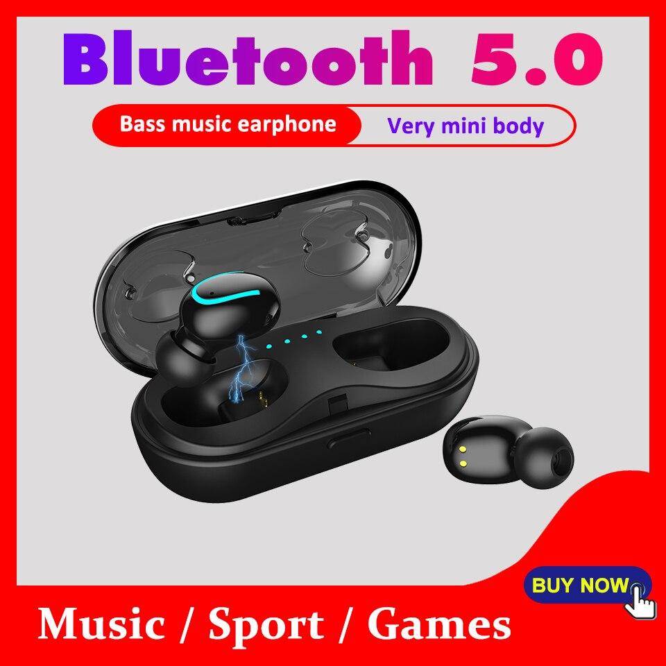 5,0 Bluetooth Kopfhörer Mini Bluetooth Kopfhörer für 6 Stunden Kontinuierlich Arbeits Wireless Ohrhörer Bass Automatisch Paarung