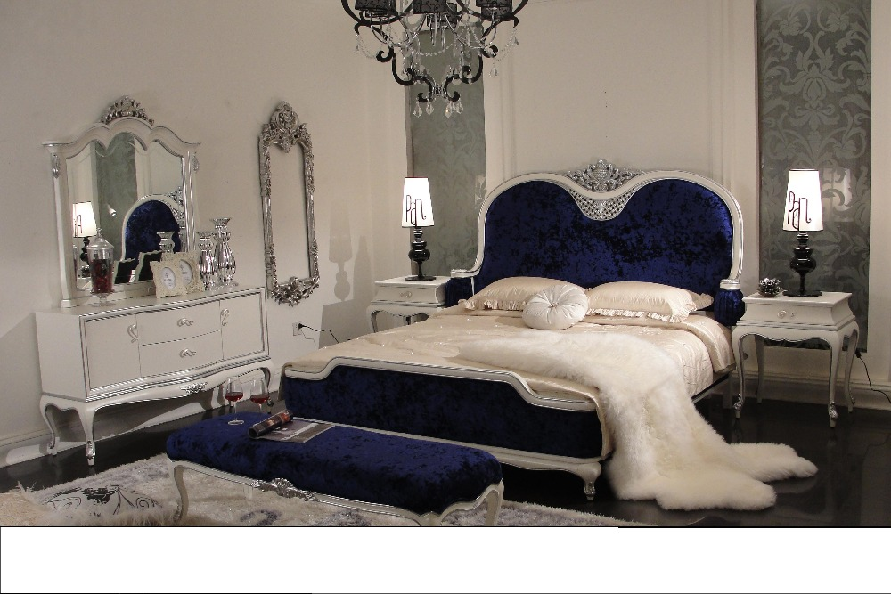 New Design Solid Wood Luxury Classical Bedroom Set 0402 Solid Wood