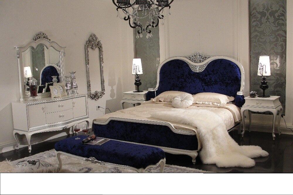 Modern Design Solid Wood Luxury Classical Bedroom Set 0402