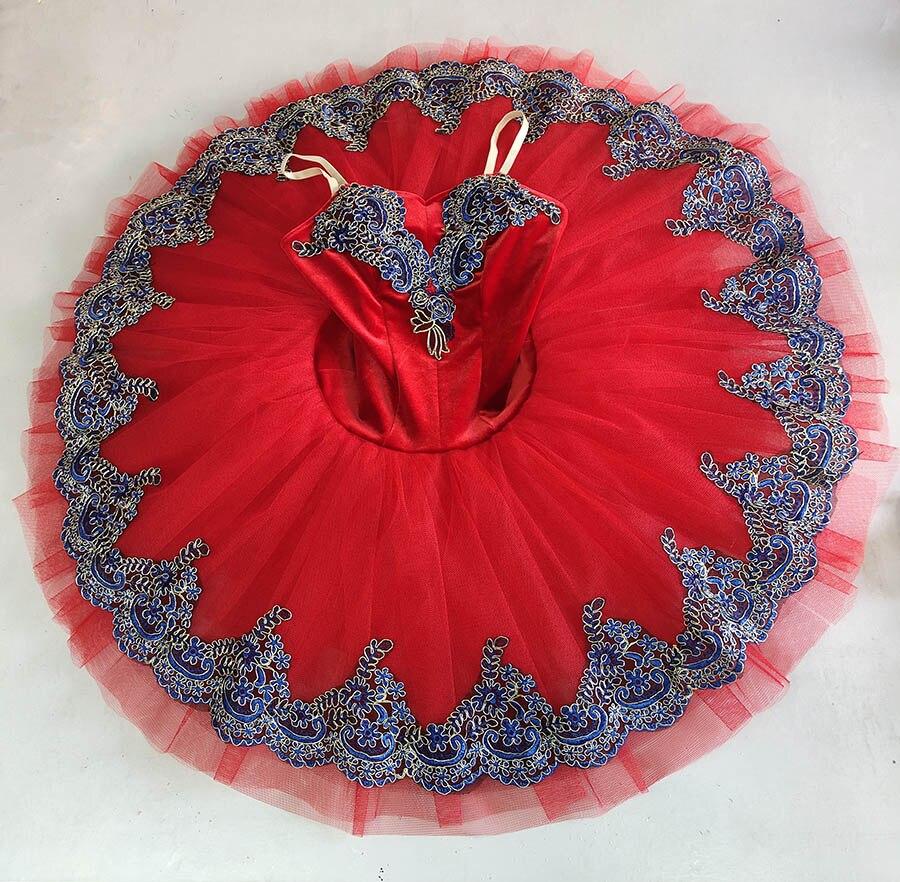 Red ballet TUTU For girl Adult Classical ballet Pancake Tutus Costume Swan lake skirt tutu Professional Ballet Tutu Blue Bird