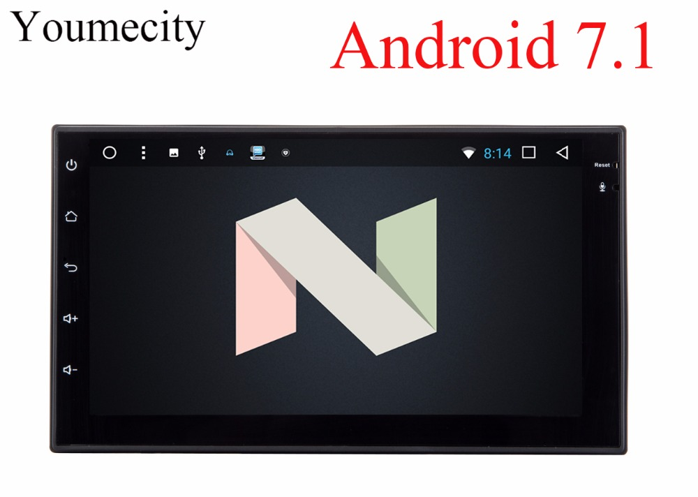 Youmecity 2G RAM Octa core 2 din android 7 1 New universal Radio Double font b