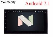 Youmecity! 2 г Оперативная память Octa core 2 din android 7,1 Новый универсальный радио двойной dvd-плеер автомобиля gps навигация в тире PC стерео видео