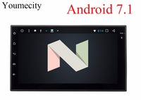 Youmecity! 2G RAM Octa core 2 din android 7.1 Nueva Radio universal doble Reproductor de DVD Del Coche de Navegación GPS En el tablero de PC de vídeo Estéreo