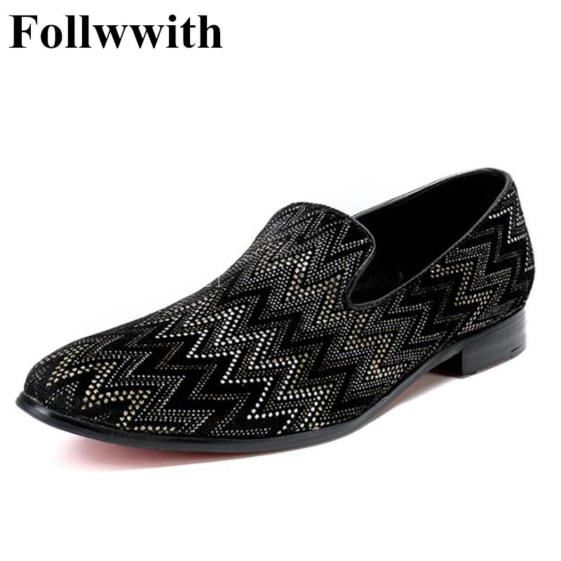 2018 Follwwith Brand Paisley Black Suede Top Quality Slippers Smoking Men Casual Shoes Flats Dress Men Loafers top brand high quality genuine leather casual men shoes cow suede comfortable loafers soft breathable shoes men flats warm