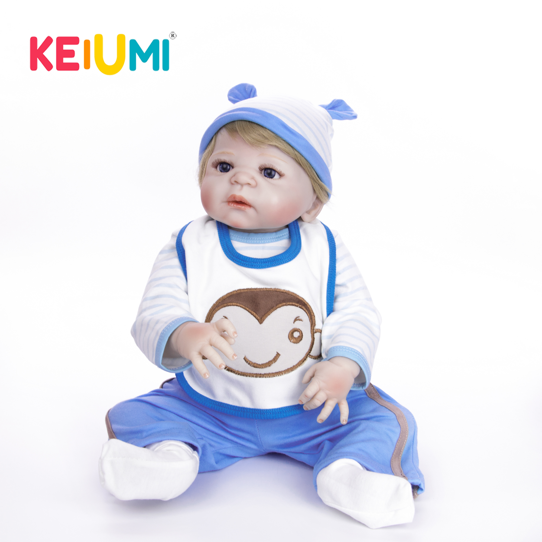 23 Handmade Baby Dolls Realistic Silicone Full Body Reborn Dolls Boy Fashion Kids Toy Waterproof Boneca