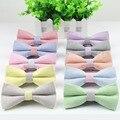 Галстуки lawny женщин мужчины галстук-бабочка высокое качество гибкая боути гладкий галстук мягкий Soild цвет бабочка орнамент красочные