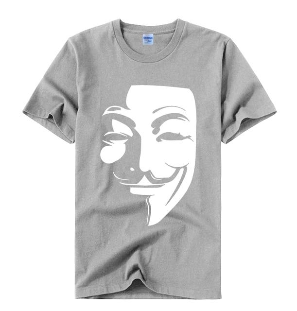 Guy Fawkes T-Shirt Noir Anonymous V pour VENDETTA Halloween Horreur Effrayant graphique