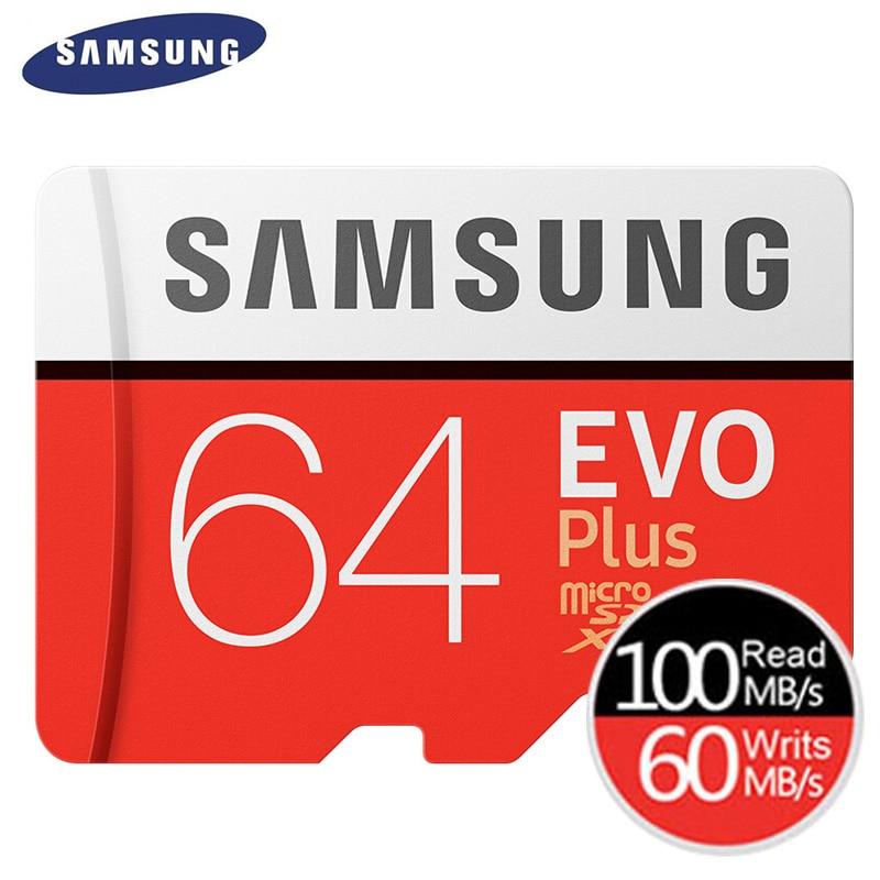 SAMSUNG Memory Card EVO Plus Micro SD 32GB Class 10 U1 MicroSD Card C10 UHS-I Trans Flash MicroSDHC/SDXC 64GB 128GB U3 4K