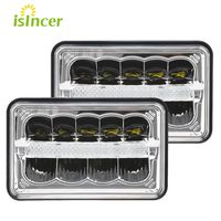 ISincer Car Styling LED Headlight HI LO DRL High Low Beam Square Led Headlight For Jeep