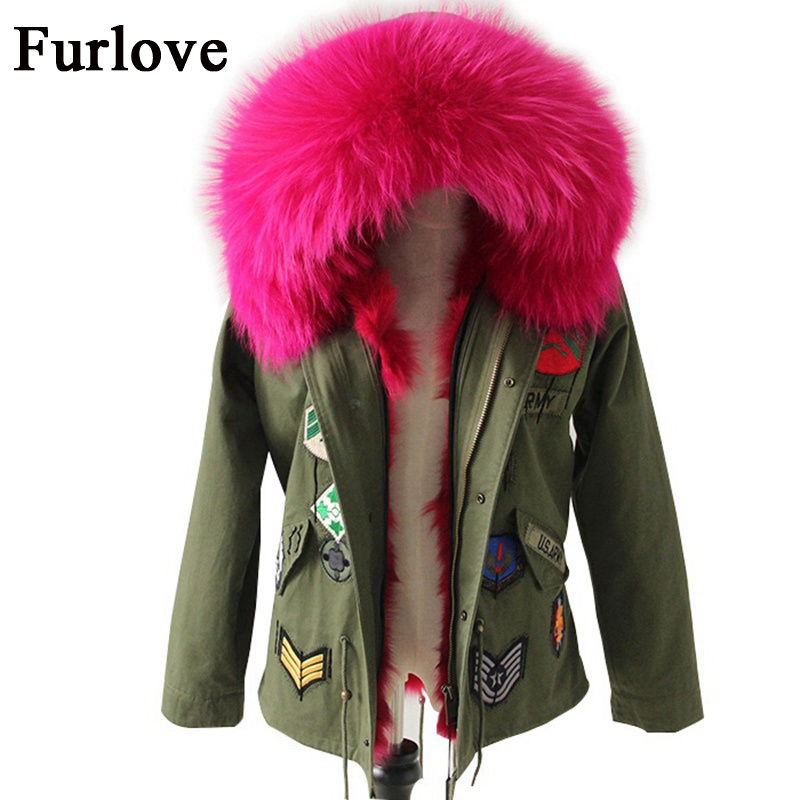 Women winter parka US military embroidery natural raccoon fur collar hooded coat parkas thick real fox fur lining jacket brand real fox fur liner winter jacket women new long parka real fur coat big raccoon fur collar hooded parkas thick outerwear