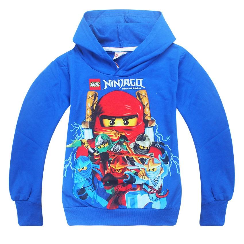 2018 Boys Outwear Ninja Ninjago Hoodies Batman Costumes Clothes long Sleeve T shirts Childrens Sweatshirts For Boys Kids Tops