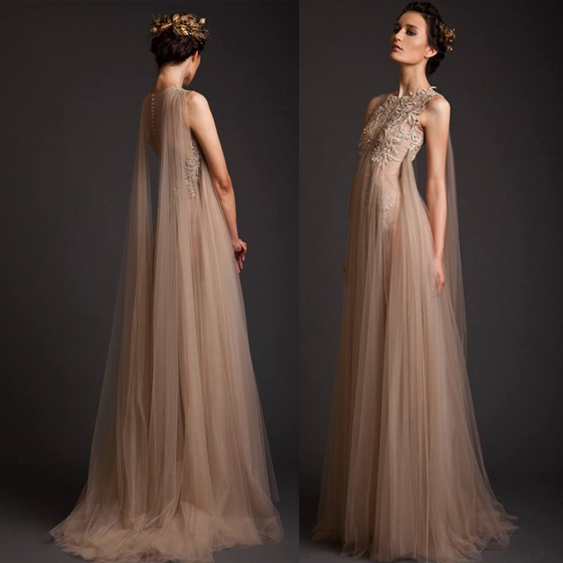 Vnaix E2376 Vintage Tulle Lady Brush Train A Line Elegant Customized Long Formal Evening Dresses 2015 New