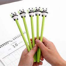 2pcs/lot Creative Cartoon panda gel pen 0.5mm Gel Ink black student stationery office supplies Neutral