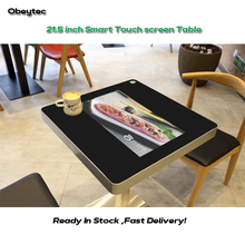 21.5 inch Smart Touch Table Interactive Restaurant Touch Coffee Table with Food Ordering System for 2-4 Persons (OBETT60) 2 3 alphanumeric display receiver host 433mhz with touch screen voice broadcast for restaurant ordering system queue management