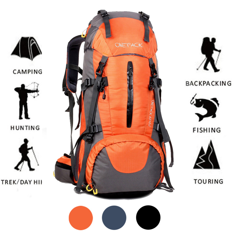70L Outdoor Backpack Camping Bag Waterproof Mountaineering Hiking Trekking Travel Backpacks Molle Sport Bag Climbing Rucksack