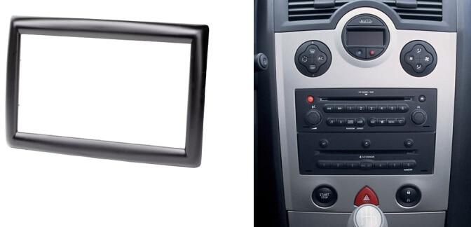 double din car audio facia for renault megane ii 2002 2009. Black Bedroom Furniture Sets. Home Design Ideas