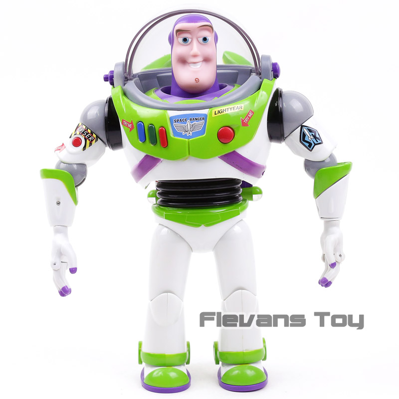 Toy Story Talking Buzz Lightyear Star Command PVC Action Figure Collectible Model Toy with Light Gift for Kids Children Boys toy story costumes adult