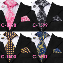 Business Tie Hanky Cufflinks Set