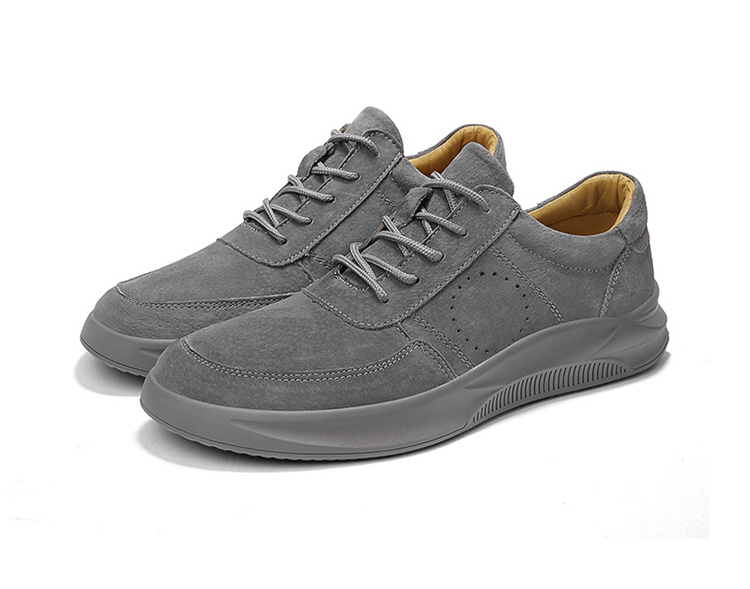 Casual Genuine Leather Suede Sneakers Unisex 14