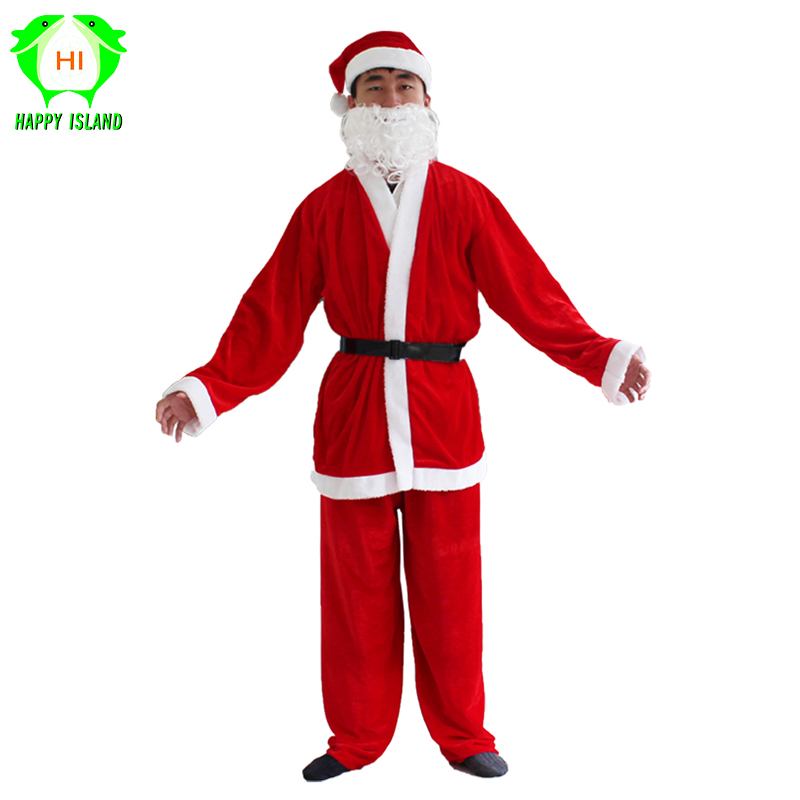 Adult New Year Cosplay Costumes Santa Claus Costume for Men Christmas Suit New Year Festival Party Costume for Women