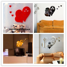 цена на Lips wall sticker personality mirror posted bedroom background DIY home decoration wall mirror