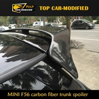 Free shipping CARBON FIBER Roof Spoiler for Mini F56 Cooper S DUELL AG Style Trunk Spoiler Wing