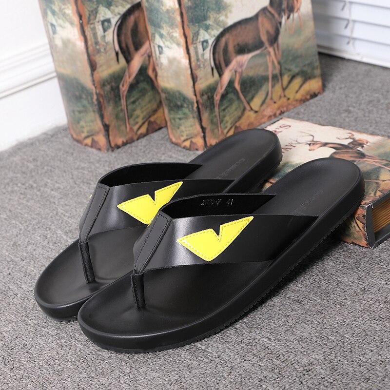 Fashion Monster Flip flops for men Summer Hot Beach Sandals Big Size euro 38 46 - 2