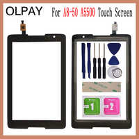 OLPAY 8 0'' Touch Screen For Lenovo Tab A8-50 A5500 Touch Screen Digitizer  Panel Front Glass Lens Sensor Tools Adhesive+Wipes