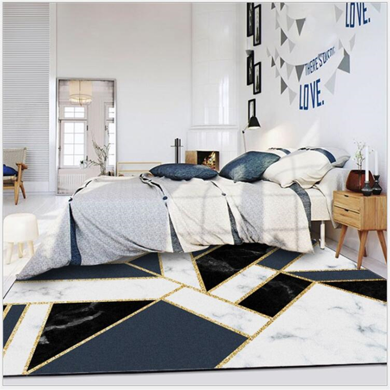 Round Floor Mat Rug Bedroom Living Room Area Rugs Black /& White Football Pattern