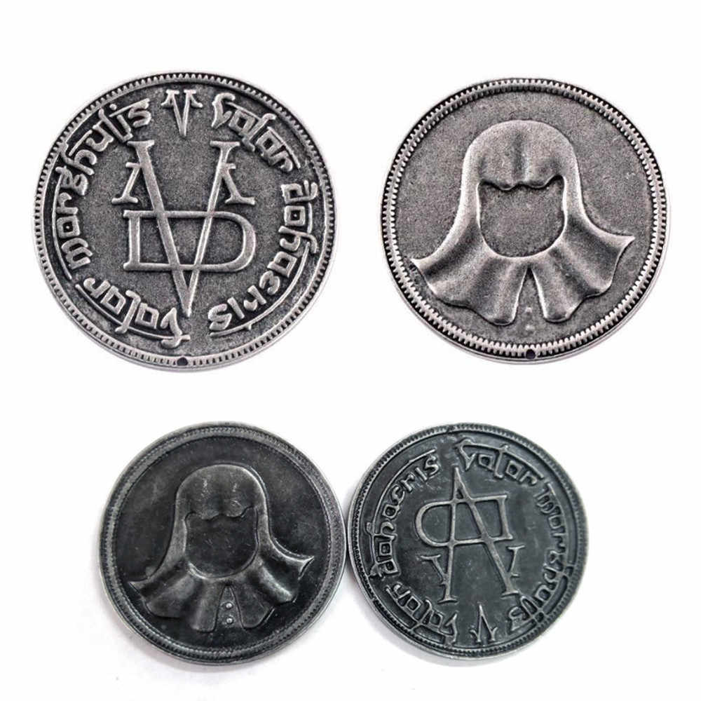 Game Of Thrones Faceless Mannen Coin Arya Stark's Gift 'Valar Morghulis' Metalen Specie