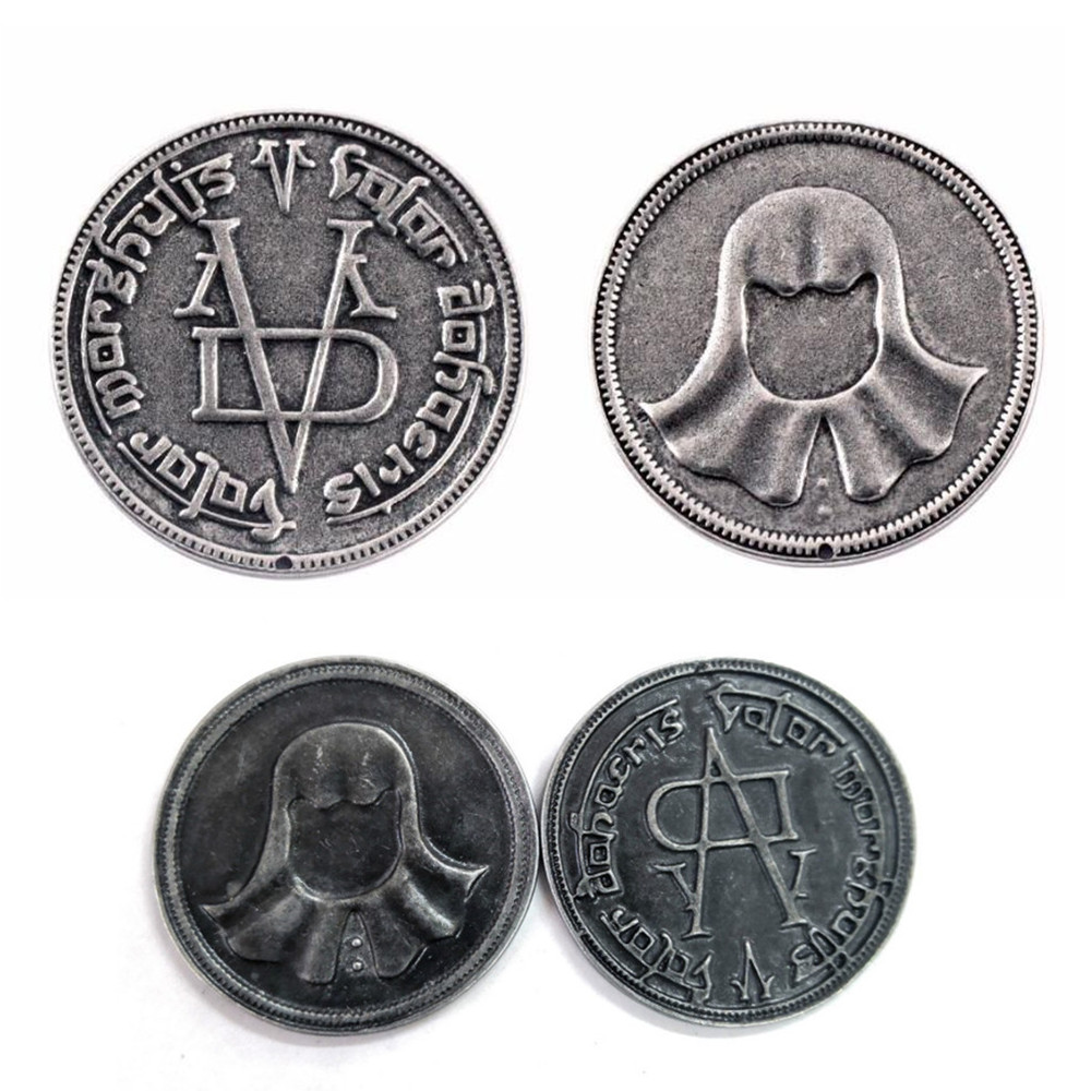 Game Of Thrones Faceless Men Coin Arya Stark's Gift 'Valar Morghulis' Metal Specie Jaqen H'ghar Bedge