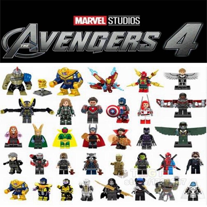 Model Building Sincere 20pcs/lot Legoings Avengers 4 Endgame Super Heroes Captain Marvel Thanos Captain America Building Blocks Figure Children Gifts Skilful Manufacture