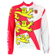 Mens Cycling Jersey Bike Shirt Golden England Three Lions Bicycle Winter Long Sleeve Clothes Pro Team Tights Clothing Maillot