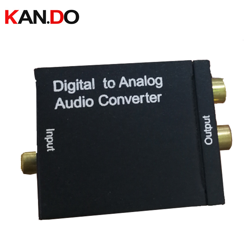 Digital To Analog Signal Audio Sound Adapter ADC Converter Optical Coaxial RCA Toslink SPDIF Adaptor TV Digital Signal Converter