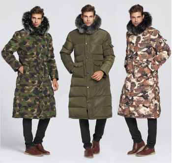 90% White duck down Men Long down jacket - 40 degrees Warm coat Real Fur Collar Thick Men\'s Winter coats - Category 🛒 Men\'s Clothing