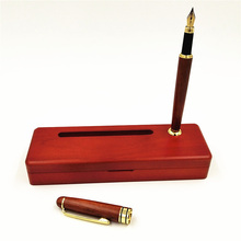 One Set Vintage Handmade Red Wood Fountain Pen with Multifunctional Pencil Case Holder Hole Office Gift Joy Corner