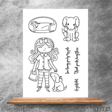 ZhuoAng Loyal puppy Transparent Clear Stamps DIY Scrapbooking Album Card Making DIY Decoration Making Embossing Stencil happy birthday words clear transparent stamps diy crafts card album making stencil decor scrapbooking embossing new stamps 2019