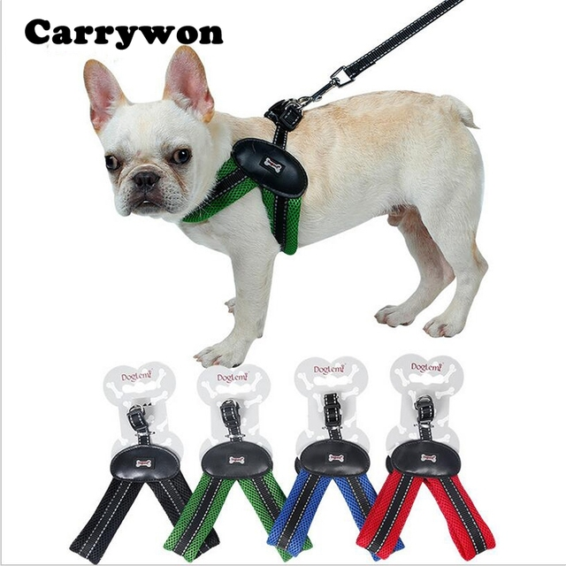 Carrywon Fashion V Neck Padded Pet Harnesses Leash leads Breathable
