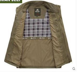 Image 3 - Chaleco de algodón puro para hombre, chaleco clásico de alta calidad para primavera y verano, ocio, muchos bolsillos, fotografía, abrigo del director, 2020