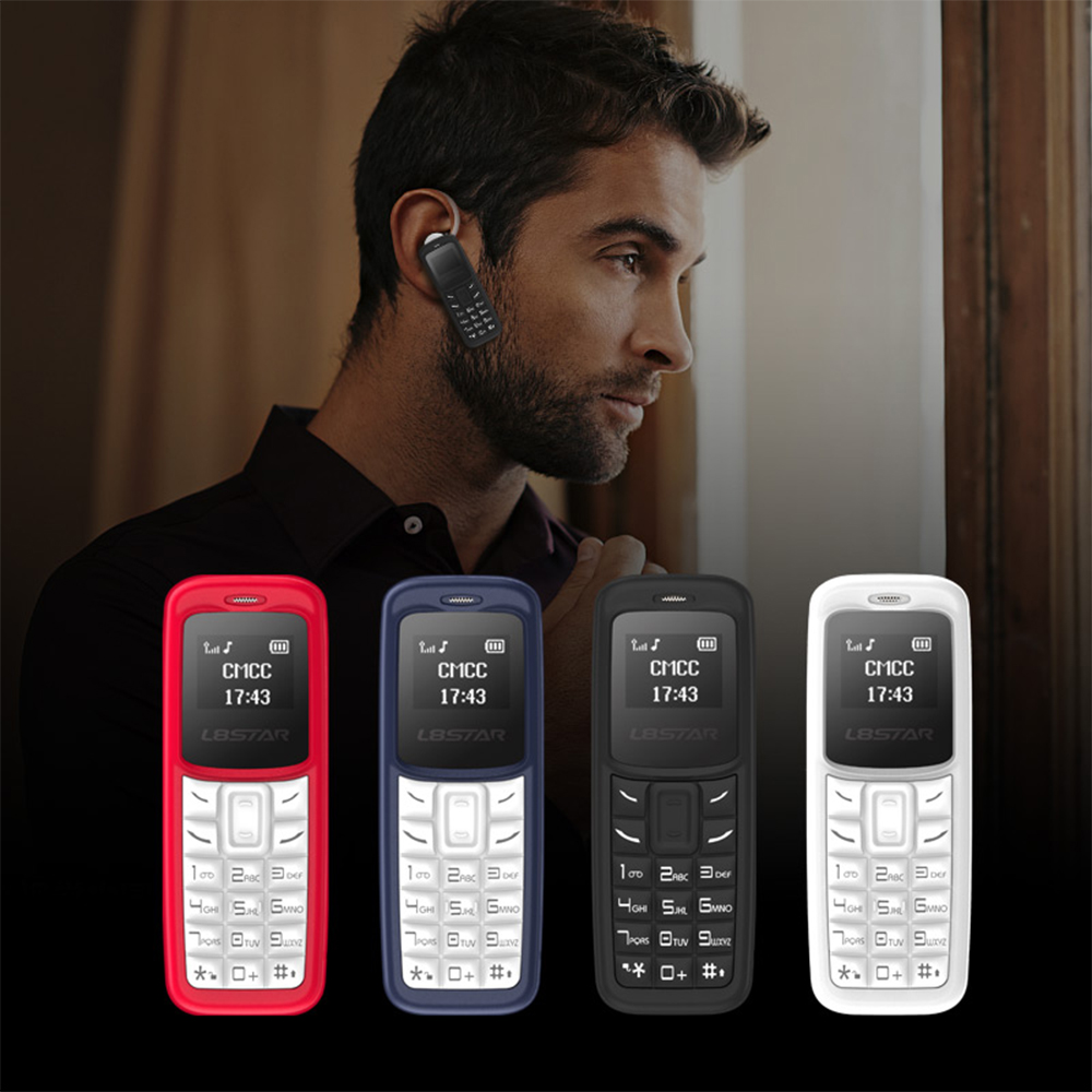 L8STAR BM30 Mini Phone SIM+TF Card Unlocked Cellphone GSM 2G/3G/4G Wireless Headphone Bluetooth Dialer Headset Mobile with Mp3 clocks and colours nomad