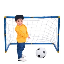 45cm Portable Football Goal Post Utility Net Soccer Goal Post + Net + Ball + Pump Safe Indoor Outdoor Sports