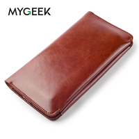 MyGeek Leather Wallet Case Magnet Clasp Flip Cell Phone Cover For IPhone 5s 6 Plus Samsung