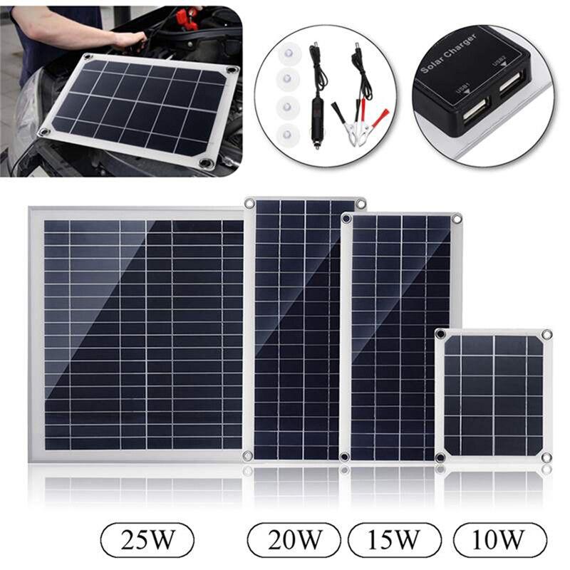 ao ar livre painel solar 10 w 15 w 20 w 25 w carregador de painel